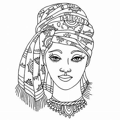 Coloring Pages Colouring African Printable Adult American