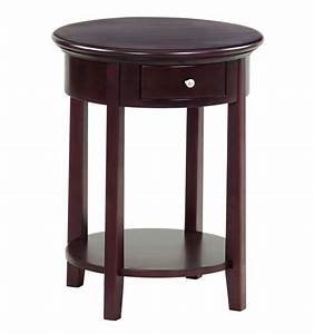 20 inch mckenzie round side tables wood39n things With coffee table 20 inches high