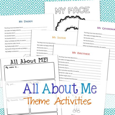 all about me activity theme for preschool kindergarten natural living