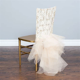 Floral Lace Tutu Chiavari Chair Cover: Linen Tablecloth