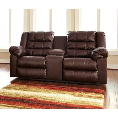 Leather Dual Reclining Loveseat With Console by Brolayne Leather Reclining Console Loveseat