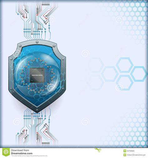 abstract computer graphic design  security shield