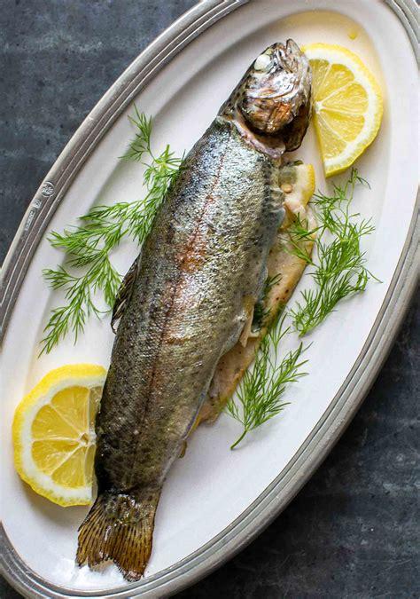 grilled trout  dill  lemon recipe simplyrecipescom