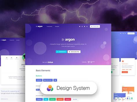 argon open source bootstrap  based design system admin