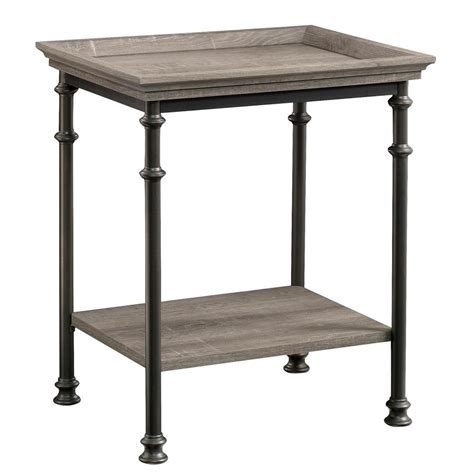 sauder edge water side table sauder edge water collection estate black rectangle side