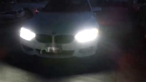 bmw headlights at night bmw adaptive full led 435i headlights at night youtube