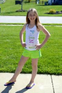 Tween Girl Wearing Shorts
