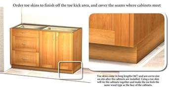 Kitchen Cabinet Toe Kick Options toe skin for covering exposed cabinet toe kick