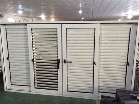 factory price aluminum shutter louvered sliding closet