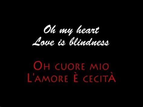 U2 Love Is Blindness (lyrics & Traduzione Italiano) [from