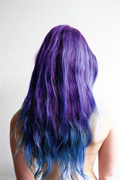 Purple Blue Ombre Hair Purple Hair Pinterest Ombre