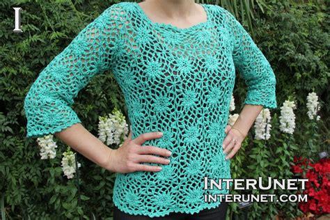 Crochet a motif blouse | interunet