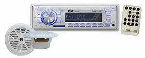 Pyle - Plmrkt33wt - Marine And Waterproof - Headunits - Stereo Receivers