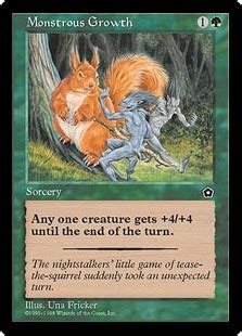 monstrous growth magic the gathering wiki fandom