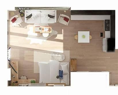 Apartment Studio Layout Square Plans Arrange Ways