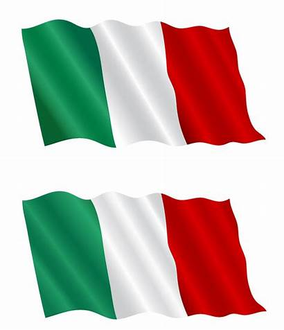 Flag Italian Flying Wind Vector Clipart Italy