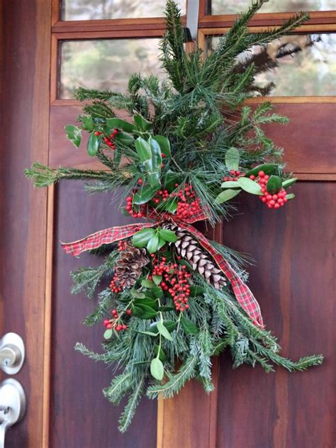 cheap  easy holiday door decor diy network blog