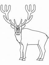 Elk Coloring Printable Colorear Alce Hunting Clipart Wapiti Animals Assustado Imprimir Deer Bestcoloringpagesforkids Template Cartoon Pintar Animales Desenho Library Lovely sketch template