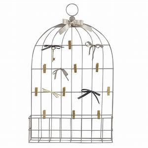 Pele Mele Metal : p le m le cage en m tal gris 42x68 maisons du monde ~ Teatrodelosmanantiales.com Idées de Décoration