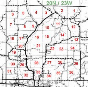 Arkansas Section Township and Range Map