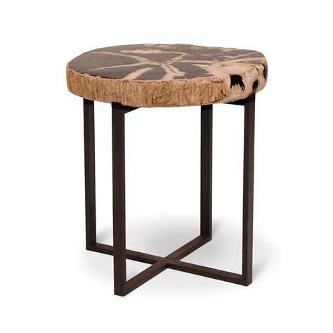 palecek petrified wood side table popular 225 list petrified wood end table