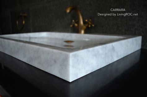 vessel sink countertops sale trough sink carrara white marble 27 inch vessel sink for