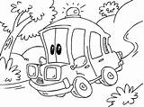 Ambulance Coloring Cartoon Pages Printable Oloring Getcoloringpages Helicopter Popular sketch template