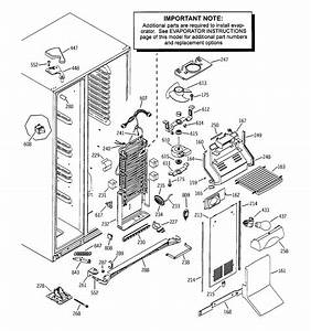 Freezer Section Diagram  U0026 Parts List For Model Pss25mgmabb