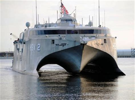 Catamaran Ship Navy by Former U S Navy Hsv 2 Swift Wrecked In Yemen Missile