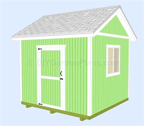 10x10 Shed Plans Blueprints by Gable Shed Plans