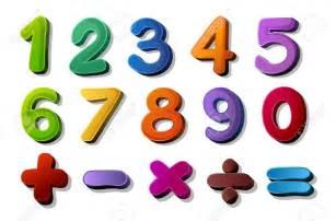 Cartoon Math Symbols Numbers