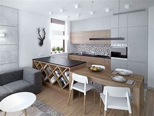 Couleur pour cuisine 105 idees de peinture murale et facade for Idee deco cuisine avec cuisine blanche et grise et bois