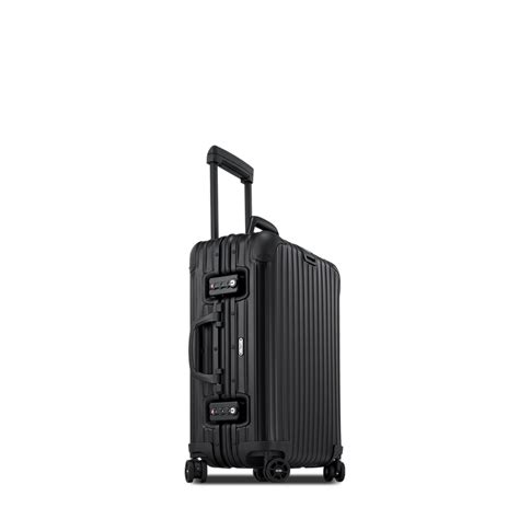 rimowa topas stealth cabin multiwheel  black carry  luggage