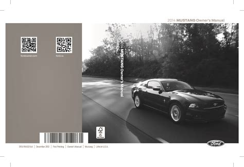 ford mustang convertible   owners manual