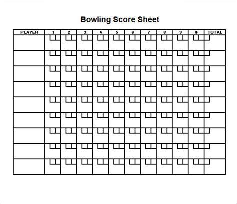 printable bowling score sheet excel pokemon  search