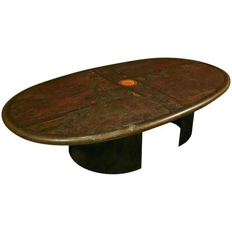 Very Rare Oval Large Coffee Table By Paul Kingma Ca1992