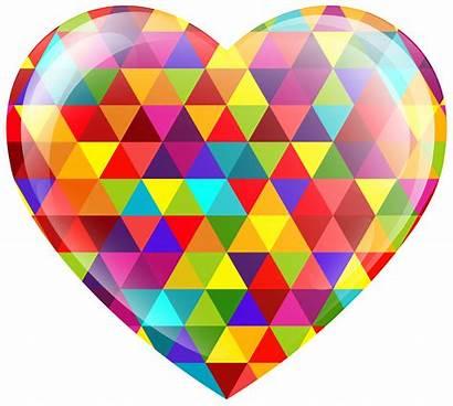 Heart Clipart Multicolor Clip Multi Hearts Transparent