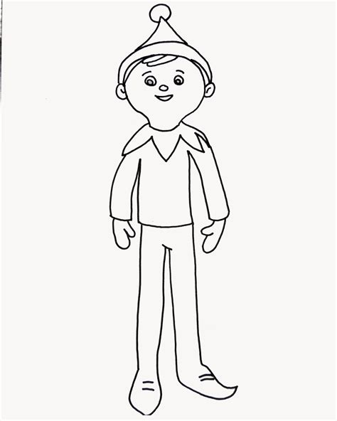 Innovative Elf On A Shelf Coloring Pages Free The Page For