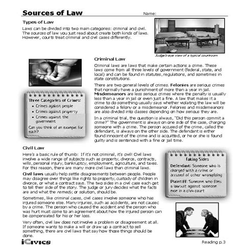 21,479 likes · 305 talking about this · 11 were here. 35 Icivics Sources Of Law Worksheet Answer Key ...