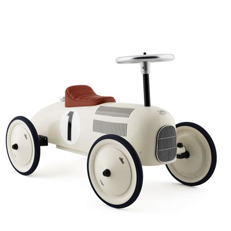 leo vilac classic retro ride on metal car white