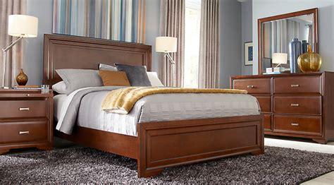 belcourt cherry 7 pc panel bedroom bedroom sets wood