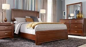 Belcourt Cherry 7 Pc Queen Panel Bedroom - Queen Bedroom