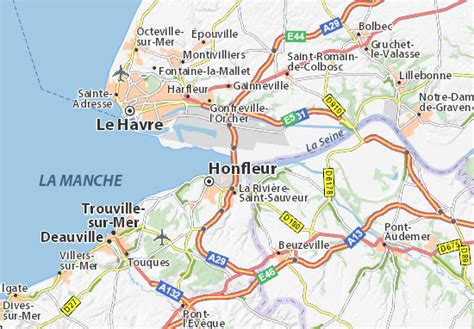 Carte Normandie Michelin by Carte D 233 Taill 233 E Pont De Normandie Plan Pont De Normandie