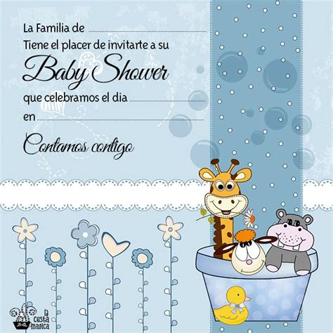 invitaciones para baby shower para nia y nio car