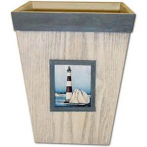 painterly lighthouse wastebasket bath walmart com