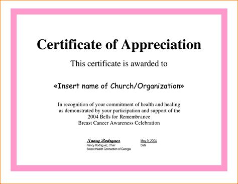 certificate of appreciation slesreference letters words