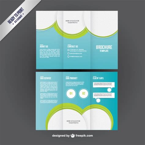 Brochure Template In Trifold Style Vector