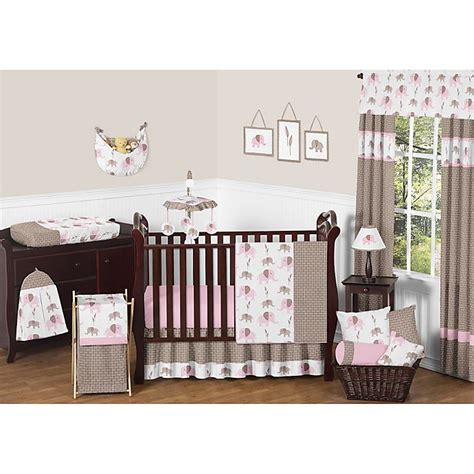 The eiffel tower is the iconic image of paris that stands out in the design of this crib set. Sweet Jojo Designs Mod Elephant 11-Piece Crib Bedding Set ...