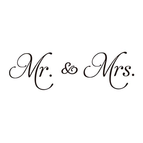 New Couple Mr. & Mrs. DIY Wall Stickers Vinyl Wall Decal