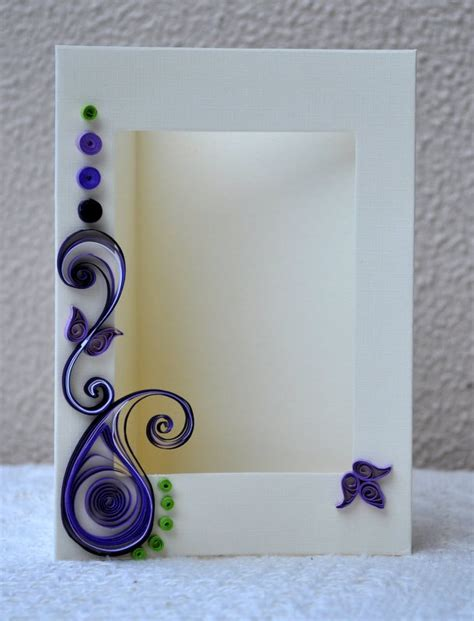 quilled card paper quilling quilled photo frame blank card